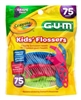 "Gum Flossers 75 Count Crayola Kids (15152)<br><br><span style=""color:#FF0101""><b>Buy 12 or More = $2.57</b></span style><br>Case Pack Info: 36 Units"