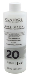 "Clairol Pure White 20 Creme Developer Standard Lift 8oz (16552)<br><br><span style=""color:#FF0101""><b>12 or More=Unit Price $1.35</b></span style><br>Case Pack Info: 12 Units"