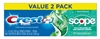 Crest Toothpaste 5.4oz Plus Scope Value Pk 2 Minty Fresh (18669)<br><br><br>Case Pack Info: 6 Units