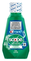 Crest + Scope Mouthwash 1.2oz Classic (12 Pieces) (18708)<br><br><br>Case Pack Info: 4 Units