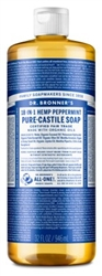 "Dr. Bronners Peppermint 32oz Castile Soap (20245)<br><br><span style=""color:#FF0101""><b>12 or More=Unit Price $10.68</b></span style><br>Case Pack Info: 12 Units"