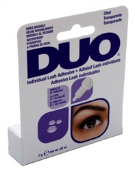 "Duo Eyelash Individual Adhesive Clear 0.25oz (20505)<br><br><span style=""color:#FF0101""><b>12 or More=Unit Price $3.30</b></span style><br>Case Pack Info: 36 Units"