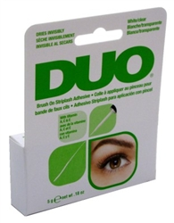"Duo Brush-On Striplash Adhesive White/Clear 0.18oz (20506)<br><br><span style=""color:#FF0101""><b>Buy 12 or More = $3.26</b></span style><br>Case Pack Info: 36 Units"
