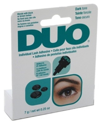 "Duo Eyelash Individual Adhesive Dark Tone 0.25oz (20507)<br><br><span style=""color:#FF0101""><b>12 or More=Unit Price $3.30</b></span style><br>Case Pack Info: 36 Units"
