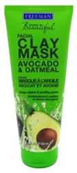 Freeman Facial Avocado & Oat Clay Mask 6oz (22795)<br><br><br>Case Pack Info: 6 Units