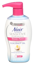 "Nair Hair Remover Sensitive Shower Pwr Coconut Oil 12.6oz (24328)<br><br><span style=""color:#FF0101""><b>12 or More=Unit Price $7.76</b></span style><br>Case Pack Info: 12 Units"