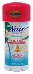 "Nair Hair Remover Glides Away Nourish With Argan Oil 3.3oz (24423)<br><br><span style=""color:#FF0101""><b>12 or More=Unit Price $5.53</b></span style><br>Case Pack Info: 12 Units"