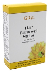 "Gigi Strips Face Hair Removal 12 Strips (24 Applications) (24425)<br><br><span style=""color:#FF0101""><b>Buy 12 or More = $4.46</b></span style><br>Case Pack Info: 36 Units"