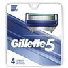 Gillette Mens 5 (4 Cartridges) (24719)<br><br><br>Case Pack Info: 48 Units