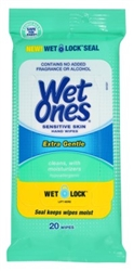 Wet Ones Anti-Bacterial Hand Wipes 20 Count (10 Pieces) X-Gentle (31566)<br><br><br>Case Pack Info: 1 Unit