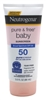 Neutrogena Pure & Free Spf#50 Baby Sunscreen 3oz (40331)<br><br><br>Case Pack Info: 12 Units