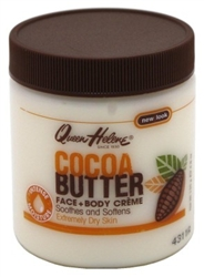 "Queen Helene Jar Cocoa Butter Face & Body Creme 4.8oz (41210)<br><br><span style=""color:#FF0101""><b>Buy 12 or More = $2.06</b></span style><br>Case Pack Info: 6 Units"