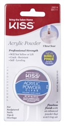 "Kiss Acrylic Powder Clear 0.33oz (45339)<br><br><span style=""color:#FF0101""><b>Buy 12 or More = $2.14</b></span style><br>Case Pack Info: 36 Units"