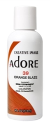 "Adore Semi-Permanent Haircolor #039 Orange Blaze 4oz (45489)<br><br><span style=""color:#FF0101""><b>Buy 6 or More = $2.95</b></span style><br>Case Pack Info: 12 Units"