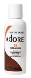 "Adore Semi-Permanent Haircolor #058 Cinnamon 4oz (45494)<br><br><span style=""color:#FF0101""><b>Buy 6 or More = $2.95</b></span style><br>Case Pack Info: 12 Units"