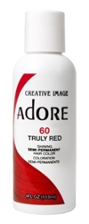 "Adore Semi-Permanent Haircolor #060 Truly Red 4oz (45495)<br><br><span style=""color:#FF0101""><b>Buy 6 or More = $2.95</b></span style><br>Case Pack Info: 12 Units"