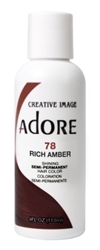 "Adore Semi-Permanent Haircolor #078 Rich Amber 4oz (45503)<br><br><span style=""color:#FF0101""><b>Buy 6 or More = $2.95</b></span style><br>Case Pack Info: 12 Units"