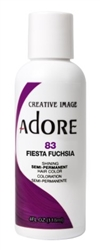 "Adore Semi-Permanent Haircolor #083 Fiesta Fuchsia 4oz (45506)<br><br><span style=""color:#FF0101""><b>Buy 6 or More = $2.95</b></span style><br>Case Pack Info: 12 Units"