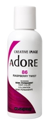 "Adore Semi-Permanent Haircolor #086 Raspberry Twist 4oz (45507)<br><br><span style=""color:#FF0101""><b>Buy 6 or More = $2.95</b></span style><br>Case Pack Info: 12 Units"