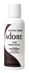 "Adore Semi-Permanent Haircolor #106 Mahogany 4oz (45511)<br><br><span style=""color:#FF0101""><b>Buy 6 or More = $2.95</b></span style><br>Case Pack Info: 12 Units"