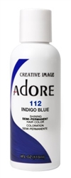"Adore Semi-Permanent Haircolor #112 Indigo Blue 4oz (45515)<br><br><span style=""color:#FF0101""><b>Buy 6 or More = $2.95</b></span style><br>Case Pack Info: 12 Units"