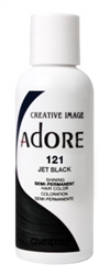 "Adore Semi-Permanent Haircolor #121 Jet Black 4oz (45522)<br><br><span style=""color:#FF0101""><b>6 or More=Unit Price $2.95</b></span style><br>Case Pack Info: 12 Units"