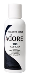 "Adore Semi-Permanent Haircolor #130 Blue Black 4oz (45523)<br><br><span style=""color:#FF0101""><b>Buy 6 or More = $2.95</b></span style><br>Case Pack Info: 12 Units"