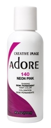 "Adore Semi-Permanent Haircolor #140 Neon Pink 4oz (45524)<br><br><span style=""color:#FF0101""><b>Buy 6 or More = $2.95</b></span style><br>Case Pack Info: 12 Units"