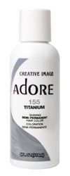 "Adore Semi-Permanent Haircolor #155 Titanium 4oz (45527)<br><br><span style=""color:#FF0101""><b>Buy 6 or More = $2.95</b></span style><br>Case Pack Info: 12 Units"