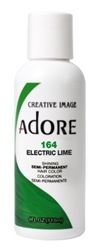 "Adore Semi-Permanent Haircolor #164 Electric Lime 4oz (45528)<br><br><span style=""color:#FF0101""><b>Buy 6 or More = $2.95</b></span style><br>Case Pack Info: 12 Units"