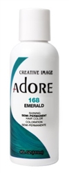 "Adore Semi-Permanent Haircolor #168 Emerald 4oz (45530)<br><br><span style=""color:#FF0101""><b>Buy 6 or More = $2.95</b></span style><br>Case Pack Info: 12 Units"
