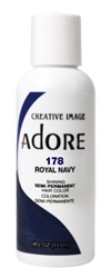 "Adore Semi-Permanent Haircolor #178 Royal Navy 4oz (45532)<br><br><span style=""color:#FF0101""><b>Buy 6 or More = $2.95</b></span style><br>Case Pack Info: 12 Units"