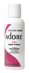"Adore Semi-Permanent Haircolor #191 Fruit Punch 4oz (45535)<br><br><span style=""color:#FF0101""><b>Buy 6 or More = $2.95</b></span style><br>Case Pack Info: 12 Units"