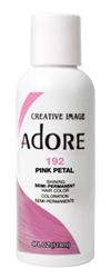 "Adore Semi-Permanent Haircolor #192 Pink Petal 4oz (45536)<br><br><span style=""color:#FF0101""><b>Buy 6 or More = $2.95</b></span style><br>Case Pack Info: 12 Units"