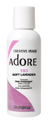 "Adore Semi-Permanent Haircolor #193 Soft Lavender 4oz (45537)<br><br><span style=""color:#FF0101""><b>Buy 6 or More = $2.95</b></span style><br>Case Pack Info: 12 Units"