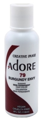"Adore Semi-Permanent Haircolor #079 Burgundy Envy 4oz (45546)<br><br><span style=""color:#FF0101""><b>6 or More=Unit Price $2.95</b></span style><br>Case Pack Info: 12 Units"