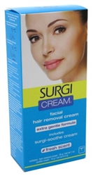 "Surgi Cream Hair Remover Face 1oz Extra Gentle Fresh Scent (47761)<br><br><span style=""color:#FF0101""><b>12 or More=Unit Price $3.91</b></span style><br>Case Pack Info: 12 Units"