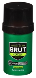 "Brut Deodorant 2.25oz Round Solid Classic (47936)<br><br><span style=""color:#FF0101""><b>12 or More=Unit Price $1.78</b></span style><br>Case Pack Info: 12 Units"