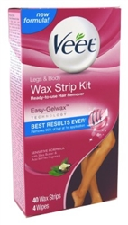 Veet Ready To Use Wax Strip Kit 40 Count (Legs And Body) (50005)<br><br><br>Case Pack Info: 4 Units