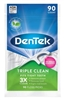 "Dentek Floss Picks Triple Clean 90 Count (51126)<br><br><span style=""color:#FF0101""><b>Buy 12 or More = $2.45</b></span style><br>Case Pack Info: 72 Units"