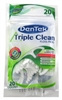 Dentek Floss Picks Triple Clean Mouthwash 20 Count (6 Pieces) (51167)<br><br><br>Case Pack Info: 6 Units