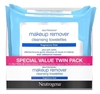 Neutrogena Make-Up Remover Towelettes 25Ct Frag-Free Twin (52054)<br><br><br>Case Pack Info: 12 Units