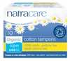 "Natracare Organic Cotton Tampon Super 10 Count (53506)<br><br><span style=""color:#FF0101""><b>12 or More=Unit Price $2.15</b></span style><br>Case Pack Info: 20 Units"