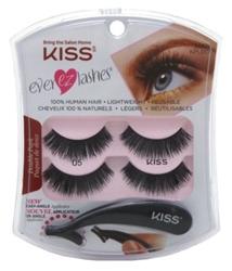 "Kiss Ever Ez 05 Lashes Double Pack (59981)<br><br><span style=""color:#FF0101""><b>Buy 12 or More = $3.80</b></span style><br>Case Pack Info: 36 Units"