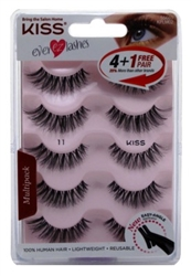 "Kiss Ever Ez 11 Lashes 4 + 1 Pairs (59987)<br><br><span style=""color:#FF0101""><b>Buy 12 or More = $8.86</b></span style><br>Case Pack Info: 36 Units"