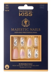 "Kiss Majestic Nails Medium Length Pink (60577)<br><br><span style=""color:#FF0101""><b>12 or More=Unit Price $10.15</b></span style><br>Case Pack Info: 36 Units"