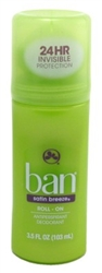 Ban Deodorant 3.5oz Roll-On 24 Hr Satin Breeze (97980)<br><br><br>Case Pack Info: 12 Units