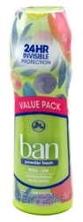 Ban Deodorant 3.5oz Roll-On Twin Pack 24 Hour Powder Fresh (98289)<br><br><br>Case Pack Info: 6 Units