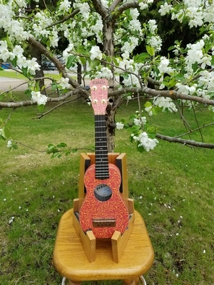 Hotrod Red Retro Laminate Soprano Ukulele