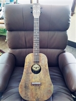 Baritone laminate ukulele, fired steel pear shappe